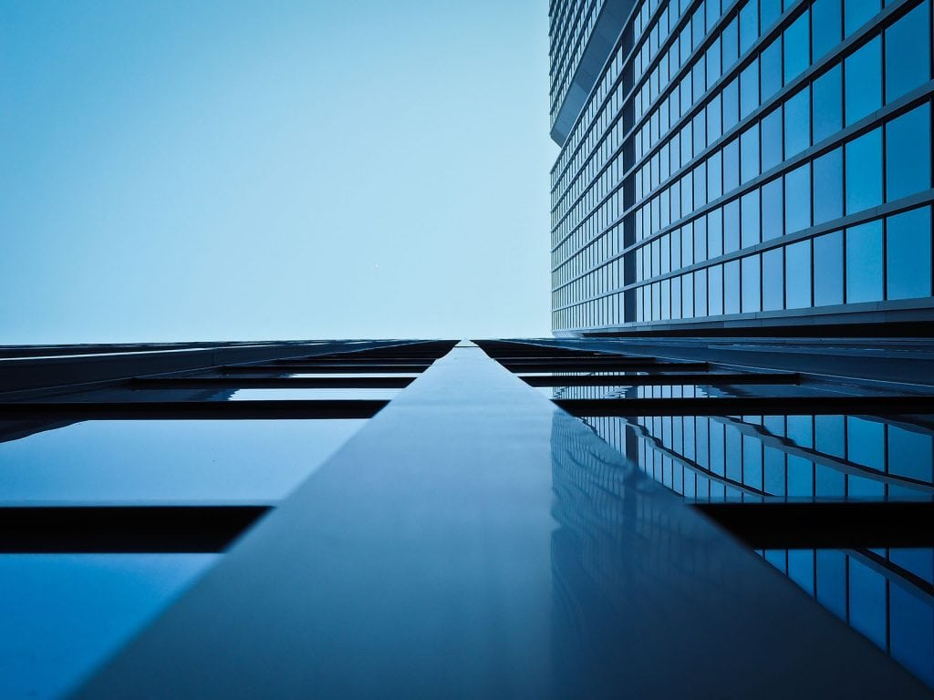 Glass materials on highrise